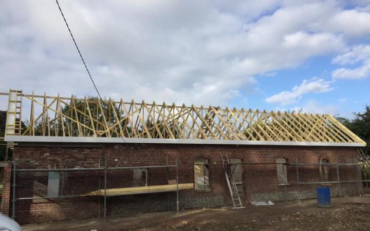 Chantier en rénovation totale