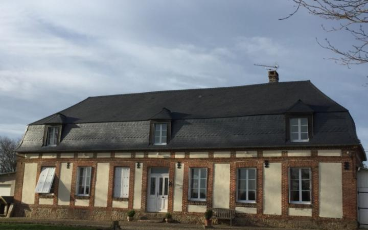 Rénovation d'une toiture en ardoises